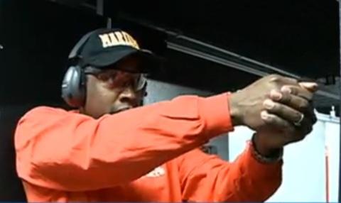 Kenn on the range