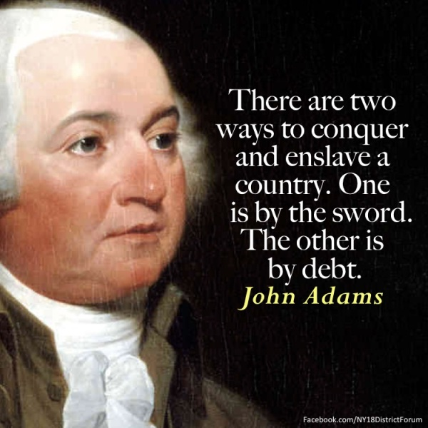 J Adams on debt