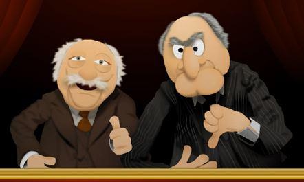 Cartoon Statler and Waldorf