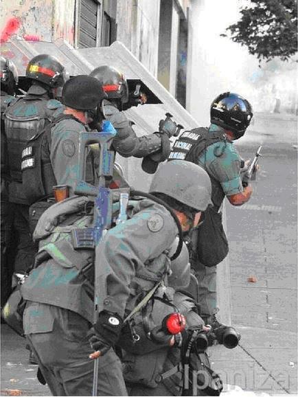 Venezuelan Riot Police with Sniper Rifles