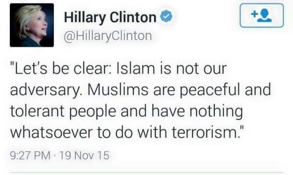 hillary and islam.