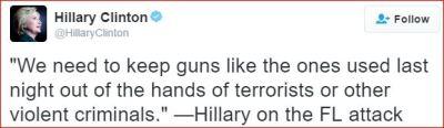HRC on guns orlando