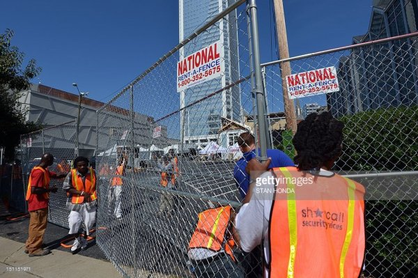 dnc security fense